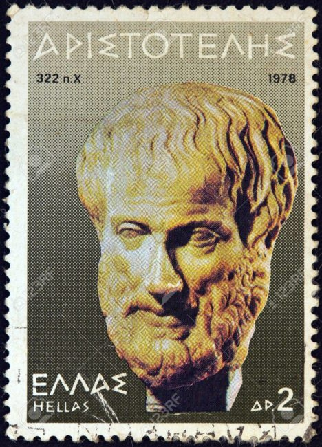 A stamp of Aristotle